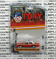 GREENLIGHT 1:64 FDNY 2011 FORD CROWN VICTORIA Police Interceptor Fire Dept HOBBY