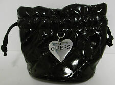 "GUESS JEWELRY PURSE w/ INSIDE PURSE PILLOW 5"" WIDE/4"" HIGH w/DRAW STRING TOP B51"