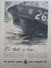 8/1945 PUB BPB BRITISH POWER BOAT CRAFT RESCUE LAUNCHES ORIGINAL AD