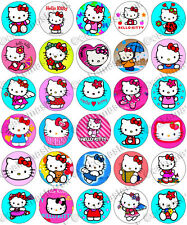 30 x Hello Kitty Party Collection Edible Rice Wafer Paper Cupcake Toppers