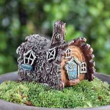 NEW FIDDLEHEAD MICRO MINIS - FAIRY GARDEN HOUSE-MINI LOG COTTAGE- 6CM HIGH