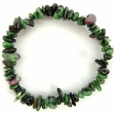 RUBY in ZOISITE  (ANYOLITE)   Bracelet - Self Control, Self-esteem, Harmony