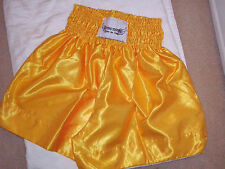 """El Rey Gold'' Muay Thai shorts"" Gold Shorts  - Large  American Sizes"