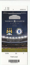 2013 MANCHESTER CITY VS CHELSEA FC FULL TICKET STUB YANKEE STADIUM 5/25 SOCCER