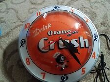 Orange Crush Double Bubble Clock NIB