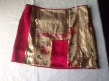 diane von furstenberg Silk And Sequin Designer Skirt Size 14