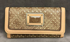 NEW GUESS BROWN LOGO REMIX CLUTCH WALLET