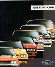 Ford 1983 USA Market Brochure Escort EXP Mustang Fairmont LTD Crown Victoria