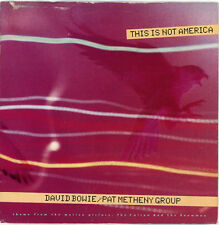 """DAVID BOWIE / PAT METHENY GROUP  """"THIS IS NOT AMERICA c/w SAME - INSTR."""" LISTEN!"""