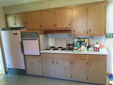 1958 Mid-Century Vintage Pink Frigidaire Fridge, Electric Oven and Stovetop