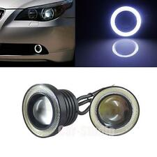2pcs 2.5'' High Power Projector LED Fog Light w/White COB Halo Angel Eye Rings