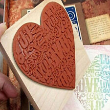 Best Wooden Rubber LOVE HEART Stamp Diary Scrapbooking Wedding Card Making Craft