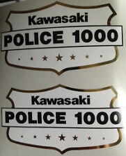 KAWASAKI Z1000 KZ1000 POLICE BIKE CHIPS SIDE PANEL DECALS