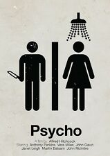 A4 Alternative Psycho Movie Poster (Blu-Ray DVD Norman Bates Motel Picture Art)