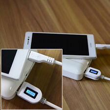 USB Data Cable LCD Digital Indicator Voltage Charger Wire For Android Phones