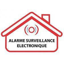 Autocollant alarme surveillance electronique stickers logo10 17 cm