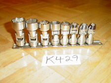 SNAP-ON TOOLS 8 PIECE 3/8 DRIVE SAE. SHALLOW SWIVEL SOCKET SET 5/16 TO 3/4