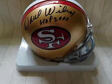 Dave Wilcox signed 49ers mini helmet, COA,  HOF 2000