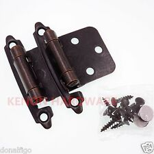 Lot of 40 Pairs (80pcs) Self Closing Cabinet Overlay Hinges - Oil Brushed Bronze