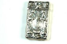 Fabulous Gorham Sterling Silver Match Safe W/ Nudes & Fishes NR