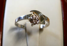 Soft pink zircon in a 925 Sterling Silver  ring...2 grams