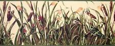 40' 3 Rolls Cat Tails Duck Pond Flowers Insects Butterfly Lodge Wallpaper Border