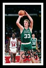 LARRY BIRD - BOSTON CELTICS AUTOGRAPHED SIGNED & FRAMED PP POSTER PHOTO