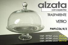 ALZATA PORTA DOLCI IN VETRO CON COPERCHIO TRASPARENTE 29x9 CM URP-597565
