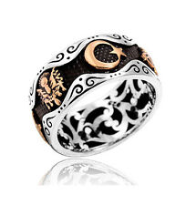 TURKISH OTTOMAN Wedding 925K Sterling Silver Mens Ring All size