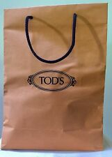 Tod's Tods Paper Shopping Bag Brown Yellow Black Logo Large Decor Storage