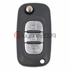 Folding Flip Remote Key Fob 3 Button 433MHz ID46 Chip for Renault Keyless Entry