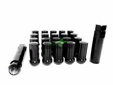 "20 BLACK 7 SPLINE LUG NUTS + 2 KEYS | 9/16 | DODGE CHRYSLER MITSUBISHI | 2"" TALL"