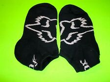 FOX RACING BLACK & WHITE NO SHOW SOCKS ADULT SIZE 7-10