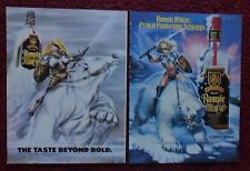 Lot of 4 Diff RUMPLE MINZE Schnapps Print Ads ~ Warrior Girls Riding Bears ART