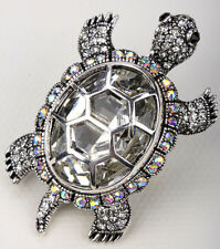 Big turtle stretch ring animal bling scarf jewelry gift 5 dropshipping silver