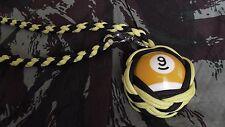 """NEW Boule Billard N°9 ø52 mm Lanyard """"Self Defense/Survie"""""""