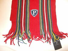 Profuomo Scarf - Originale range  -Lambswool -  Red with Coloured Stripes - BNWT