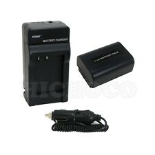 Battery + Charger Combo Set for Sony NP-FV50 HDR-PJ710V HDR-PJ10 HDR-PJ790V