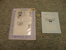 Microscale  decals N 60-603 EMD Demo Switchers SW-1001 -1500 MP-15ACl  L87