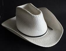 Cowboy straw white men hat size 7 1/8 by Miller made in USA