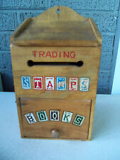 Vintage Trading Stamps Books Wooden Box!!  UNUSUAL!!