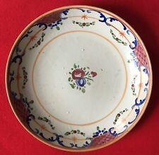 Large Antique 18th c. Chinese Export Porcelain Plate Bowl Charger Famille Rose