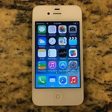 WATER DAMAGED CRACKED BACK Apple iPhone 4s 8GB WHITE SPRINT SOLD AS IS #40