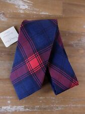 auth HOLLIDAY & BROWN plaid silk tie - New with Tags