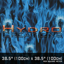 HYDROGRAPHIC FILM FOR HYDRO DIPPING WATER TRANSFER FILM BLUE FLAME FACES