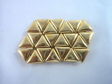 "12 Plain Gold Tone Triangle Studs Clothing Decoration 3/16"" Leather Craft"