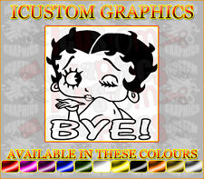 Betty Boop bye funny passed by a girl girls vinyl car sticker rear window bumper