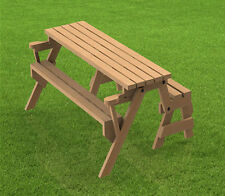 Folding Bench and Picnic Table Combination Building Plans - 6ft