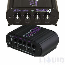 ART HeadAmp4 4-Channel Stereo Headphone Amp Head Amp Home Recording FREE 2-DAY!