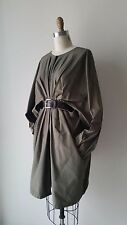 MARNI Olive Green Chunky Zip Front Pleated 3/4 Length Jacket/Dress Sz 40